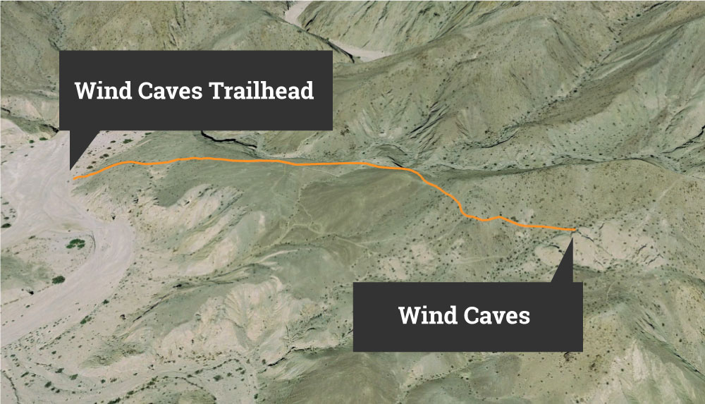 Anza Borrego Wind Caves Trail Map