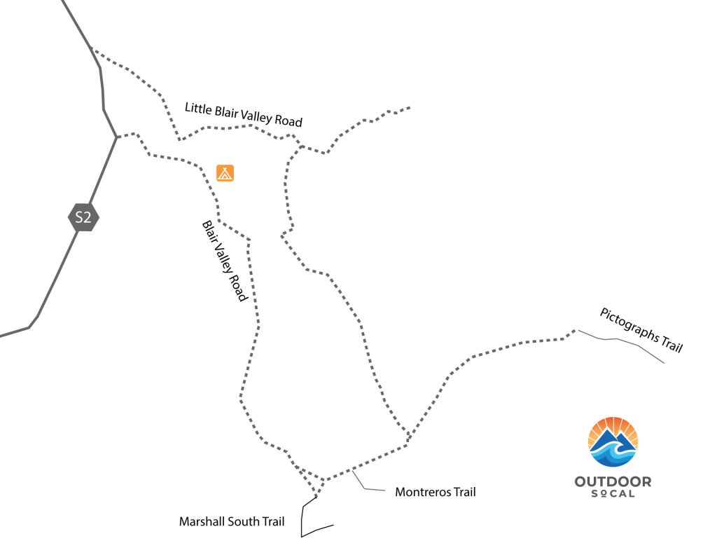 Anza Borrego Blair Valley Map