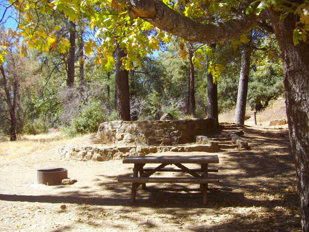 Paso Picacho Campground tent site.