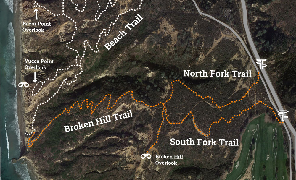 Torrey Pines Broken Hill Trail Map