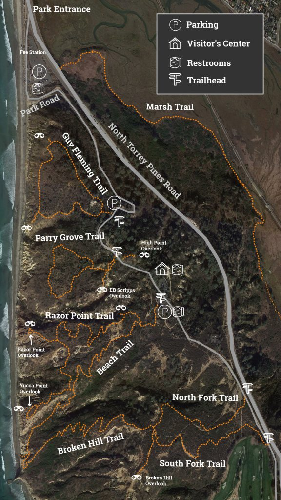 Torrey Pines Reserve Hiking Trails Map