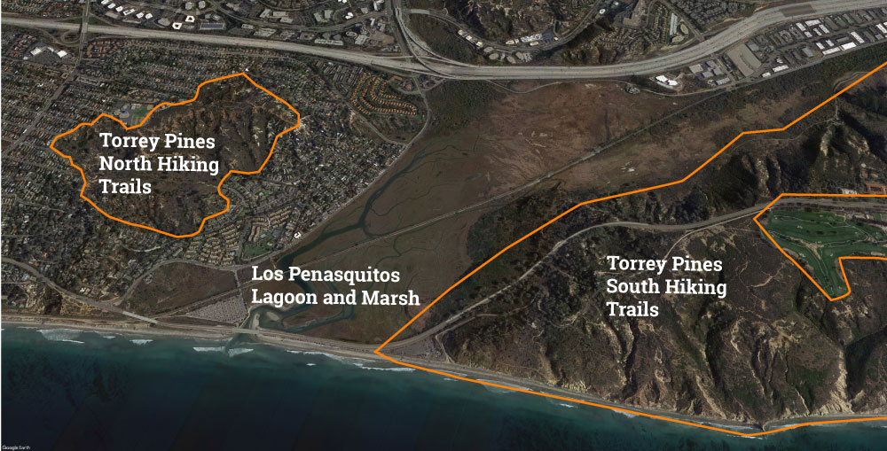 Torrey Pines Overview Map