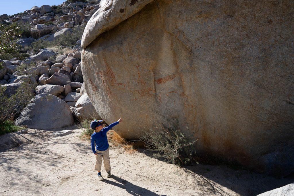 pictograph trail boulder