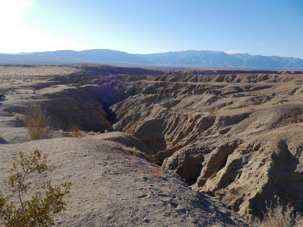 Anza-Borrego Slot Canyon Trail from Above